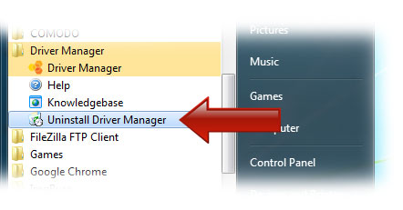 Uninstall DriverManager Uninstall
